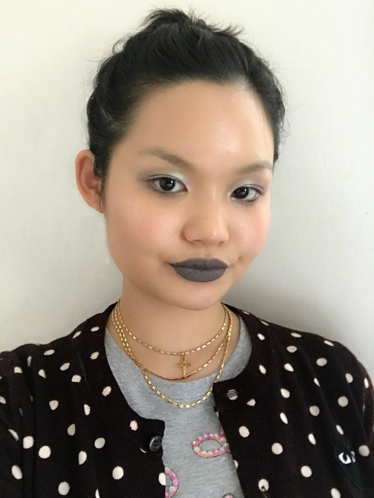 Huda Beauty Gray Lip Monochrome metallic